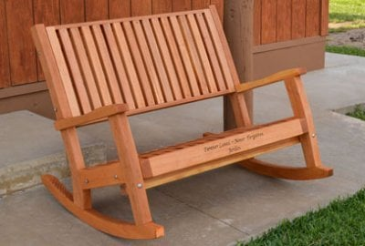 Ruth Redwood Rocking Bench