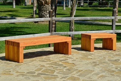 San Diego Portside Wooden Bench
