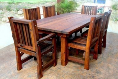 San Francisco Redwood Patio Table