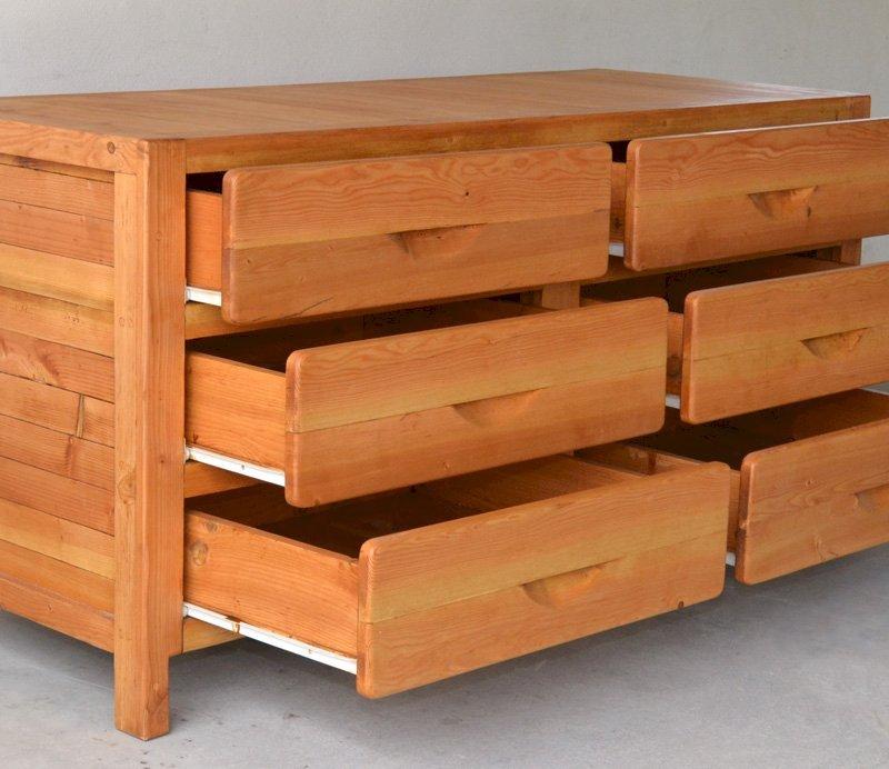 Santi's Dresser (Options: 6 Drawers, Douglas-fir, Transparent Premium Sealant).