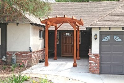 Small Arched Open Sky Pergolas