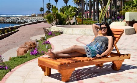 Sol Redwood Patio Lounger