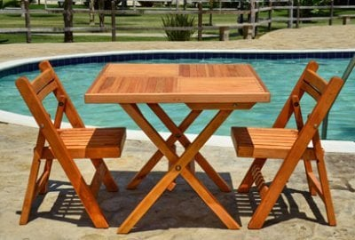 Square Wooden Folding Table