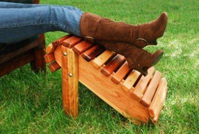 Standard Adirondack Wood Ottoman