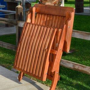 Steamer Chaise Lounger (Options: Honeymoon, Mature Redwood,  No Cushion, No Wheels, Transparent Premium Sealant).