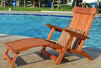 Steamer Wood Chaise Lounger