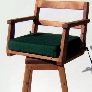Stool Cushion (Options: Captain's Chair, Forest Green).