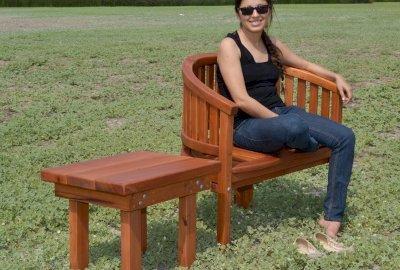 Sturdy Rectangular Wood Side Table