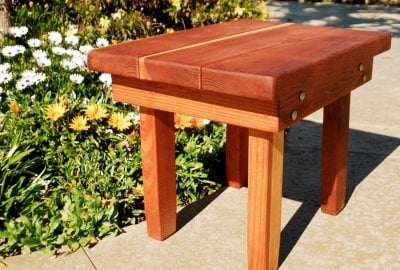 Sturdy Rectangular Wood Side Table