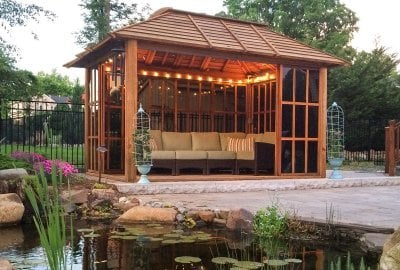 Sun Gazebo with Sliding Doors