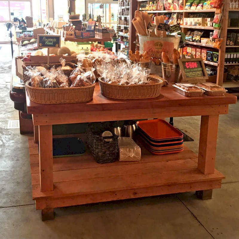 Custom Super Heavy Duty Workshop Table. Photo Courtesy of Chow's Restaurant in 3770 Piedmont Avenue, Oakland, CA.