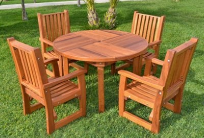 Terrace Round Wooden Table