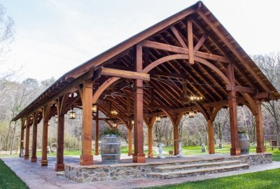 Outdoor Pavilion Kits Handcrafted from Redwood | Free Shipping
