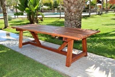 The Classic Redwood Patio Table
