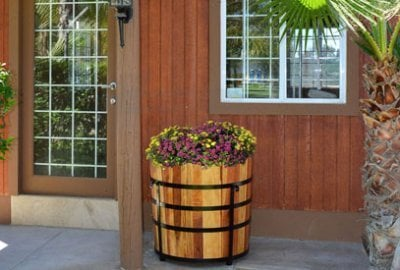 The Half Barrel Planters