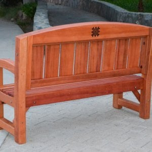 The Presidential Bench (Options: 5 ft, No Cushion, Custom Engraving).