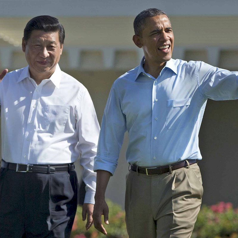 Photo shows President Obama and Chinese President Xi Jinping at Sunnysland Summit, Saturday June 8th.  Find the full note at: http://english.cri.cn/11354/2013/06/09/2724s769296_1.htm