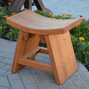 The Sanctuary Patio Bench (Options: Douglas-fir, No Engraving, Transparent Premium Sealant).