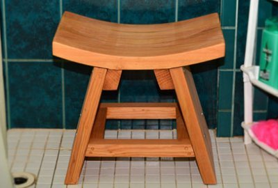 The Sanctuary Wood Shower Bench
