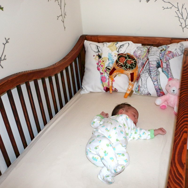 The Skyrah Infinity Crib (Oprions: Redwood,  Add Bottom Drawers, Transparent Premium Sealant)