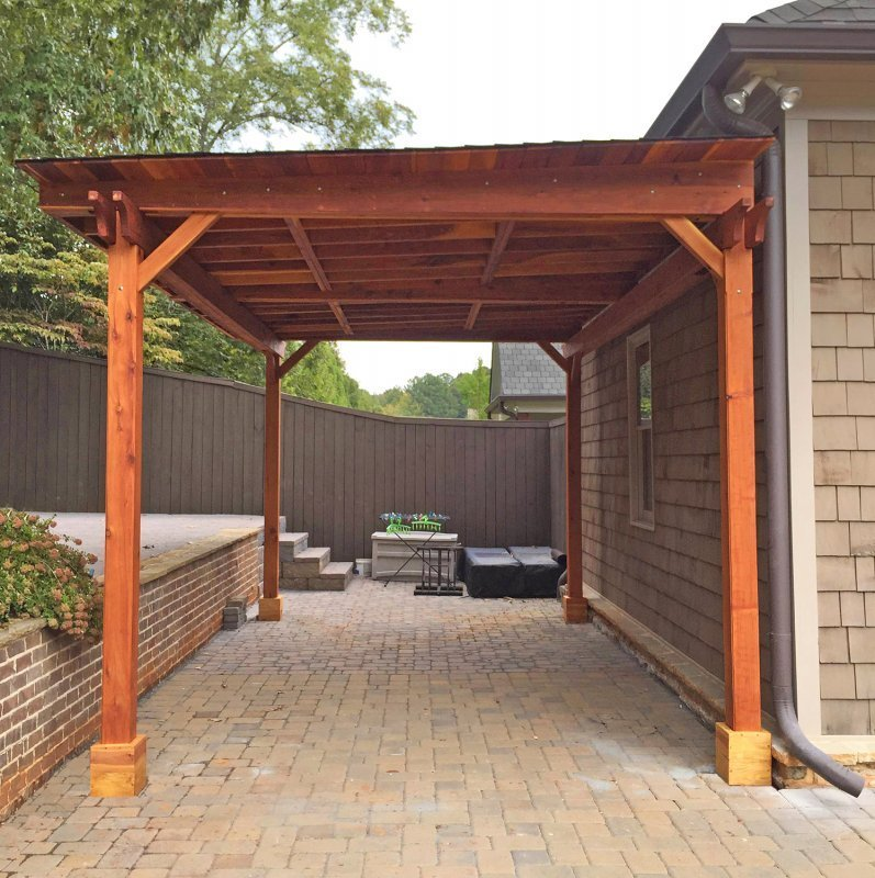The Sunset Patio Pavilion (Options: 20' x 12', No Privacy Panels, California Redwood, 9ft H, No Electrical Wiring Trim, 4-post Anchor Kit for Gale-Wind, No Post Decorative Trim, No Ceiling Fan Base, No Curtain Rods, Transparent Premium Sealant)