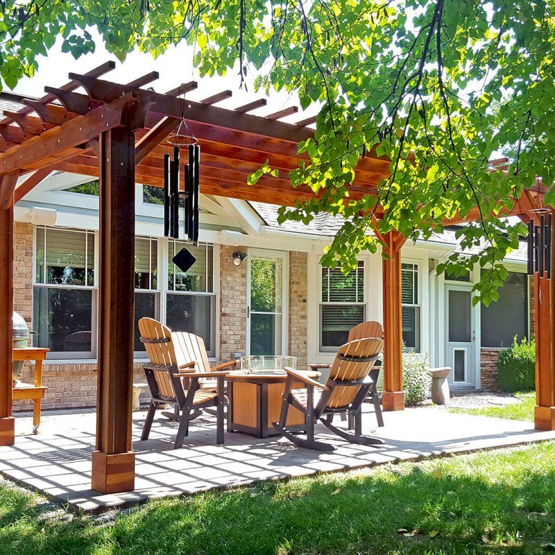 The Traditional Wooden Garden Pergola, Custom Made from Redwood on