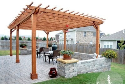 The Traditional Wooden Garden Pergola