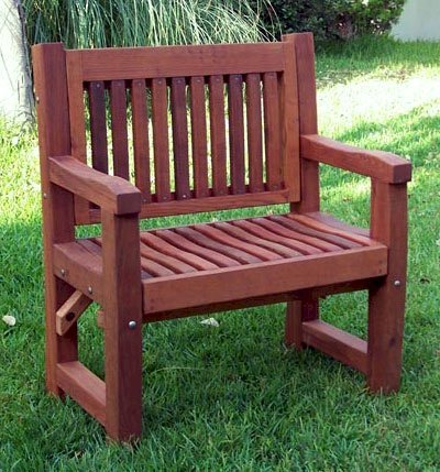 Ti Amo Bench (Options: 3 ft, Mature Redwood, No Cushion, No Engraving, Cherry Stain Premium Sealant).