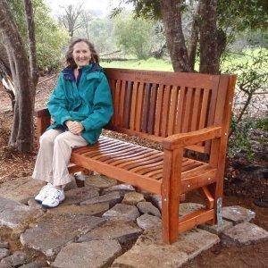 Ti Amo Bench (Options: 5 ft, Mature Redwood, No Cushion, Custom Engraving, Transparent Premium Sealant). Photo Courtesy of Clemson Lam, Waimea Trails and Greenways of Kamuela, Hawaii.