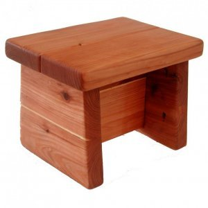 "Tiny Foot Stool (Options: Old-Growth Redwood, 8 1/2 "" H, No Engraving, Transparent Premium Sealant)."