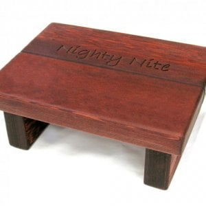 "Tiny Foot Stool (Options: Old-Growth Redwood, 5 3/4 "" H, Engraving, Cherry Stain)"