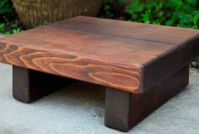 Tiny Wood Foot Stool
