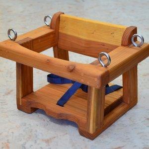 Toddler Swing Seat (Options: Redwood, No Hanging Hardware, Transparent Premium Sealant).