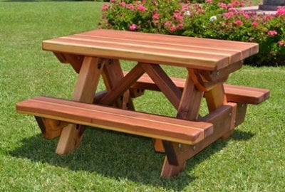 Toddler Wooden Rectangular Picnic Table