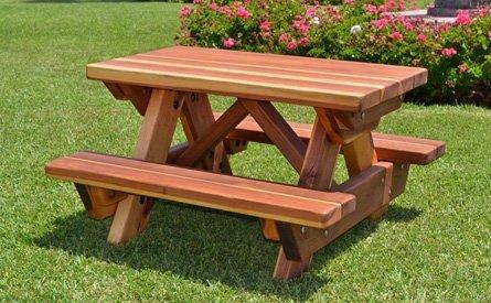 Toddler Wooden Rectangular Picnic Table