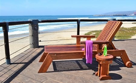 Tony's Wooden Deck Lounger