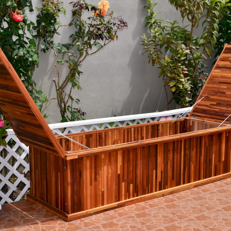 Traditional Storage Bench (Options: 60 L x 24 W x 17 H inches, Mosaic Eco-Wood, No Piston, No Parquet, No Holes, Split Seat, Feet, No Casters, No Engraving, Transparent premium Sealant).