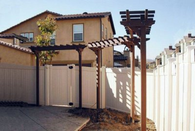 Two-Post Wood Arbor