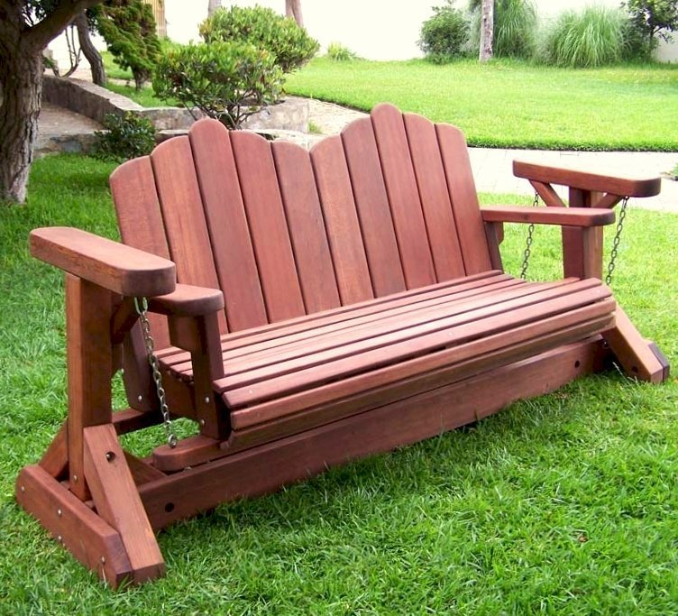 Adirondack Chain Gliders (Options: Double XW, Old-Growth Redwood, Cherry Stain)