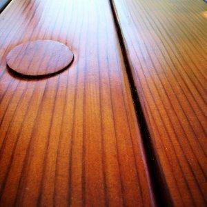 Plug for Umbrella Hole (Mature Redwood, Transparent Premium Sealant)