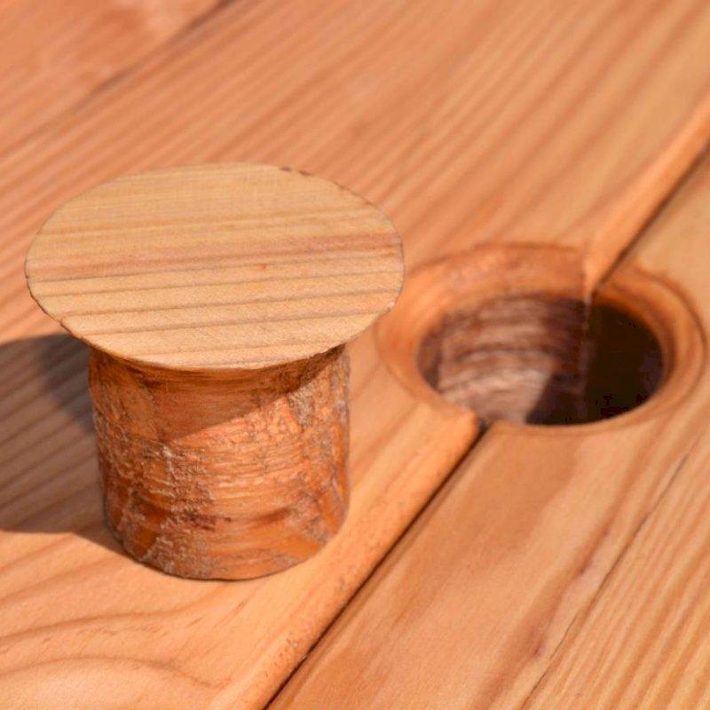 Plug for Umbrella Hole (Options: Mature Redwood, Transparent Premium Sealant).