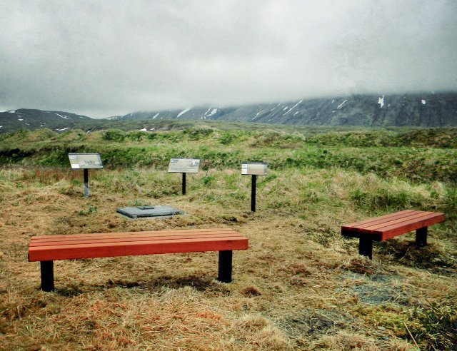 VA Benches at Alaska  Maritime National Wildlife Refuge (Options: 6 ft, Mature Redwood, Extra Long Legs, No Cushion, No Engraving, Transparent Premium Sealant). Photo Courtesy of FWS.
