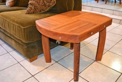 Vera's Custom Wood Side Table