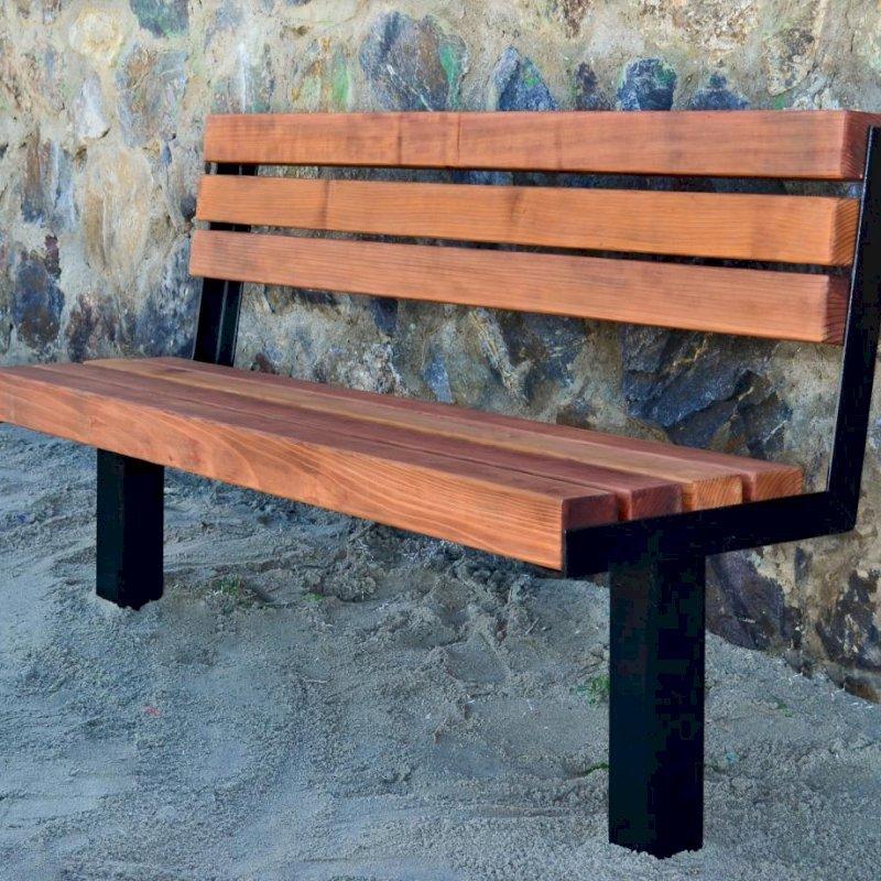 Veterans Bench (Options: 6 ft, Mature Redwood, Extra Long Legs, No Cushion, No Engraving, Transparent Premium Sealant).
