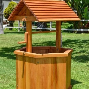 "Wishing Well (Options: Large 32"", Douglas-fir, Transparent Premium Sealant)."