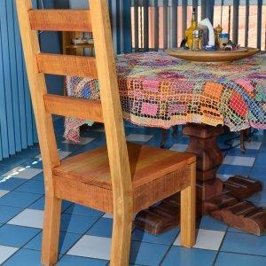 Ladderback Chair (Options: Armless, Douglas-fir, Rustic Finish, No Cushion, Transparent Premium Sealant).