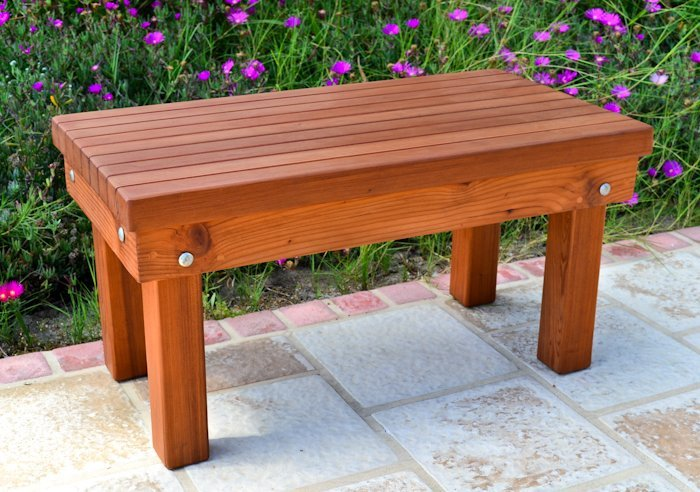 Wood Patio Bench