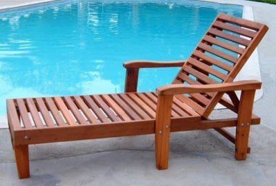 Wood Pool Lounger