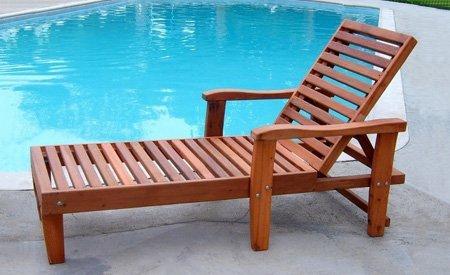 Wood Pool Lounger