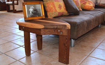 Wood Surfboard Coffee Table